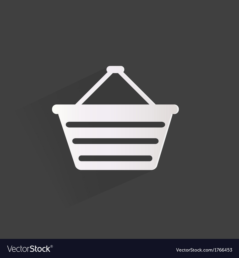 Shopping bag web icon vector | Price: 1 Credit (USD $1)