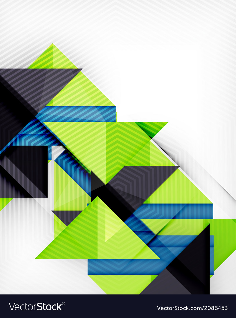 Triangle geometric shape abstract background vector | Price: 1 Credit (USD $1)