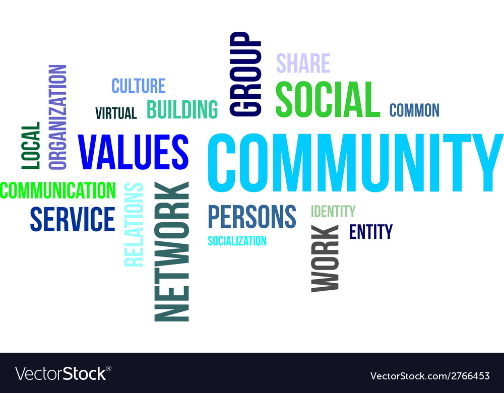 Word cloud community vector | Price: 1 Credit (USD $1)