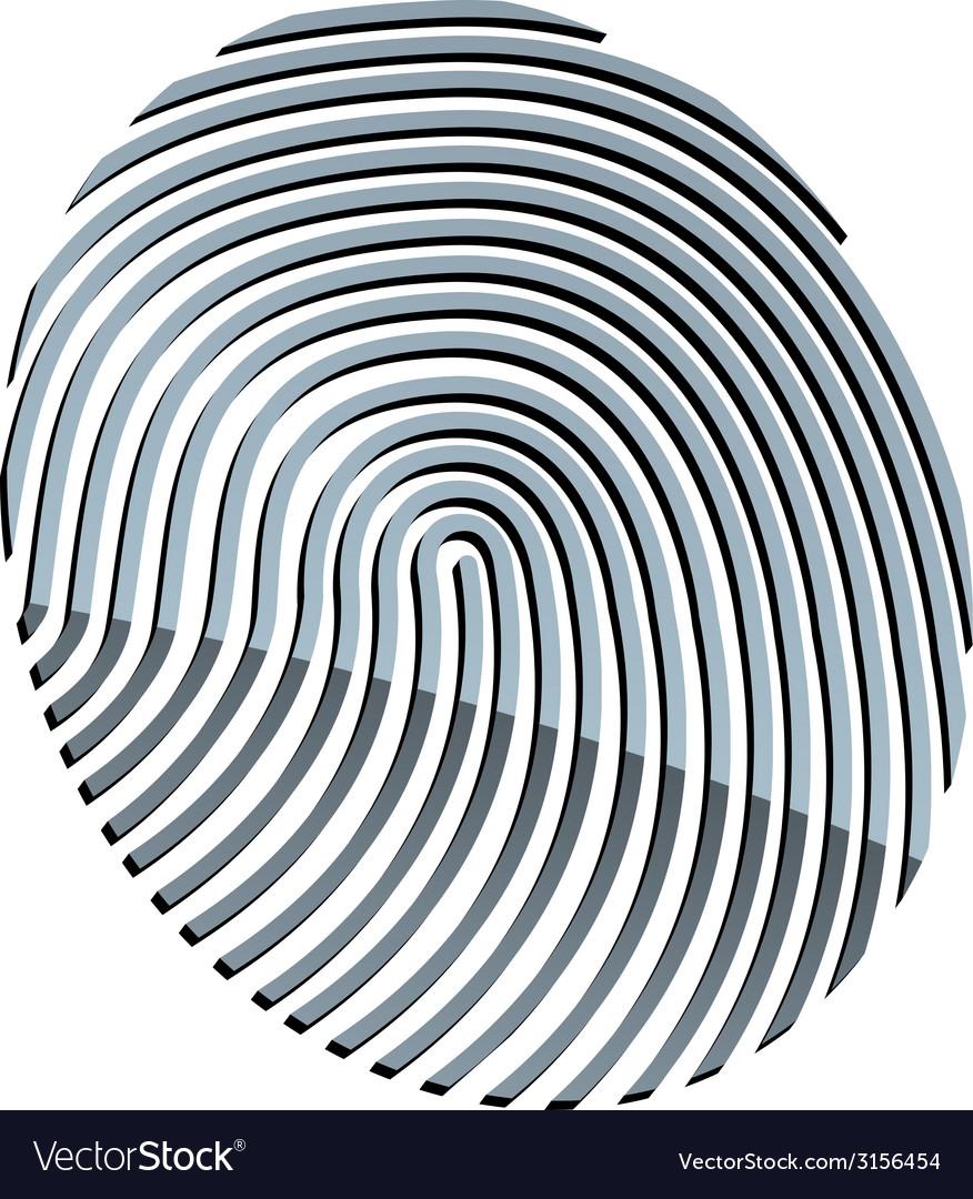 3d abstract fingerprint vector | Price: 1 Credit (USD $1)