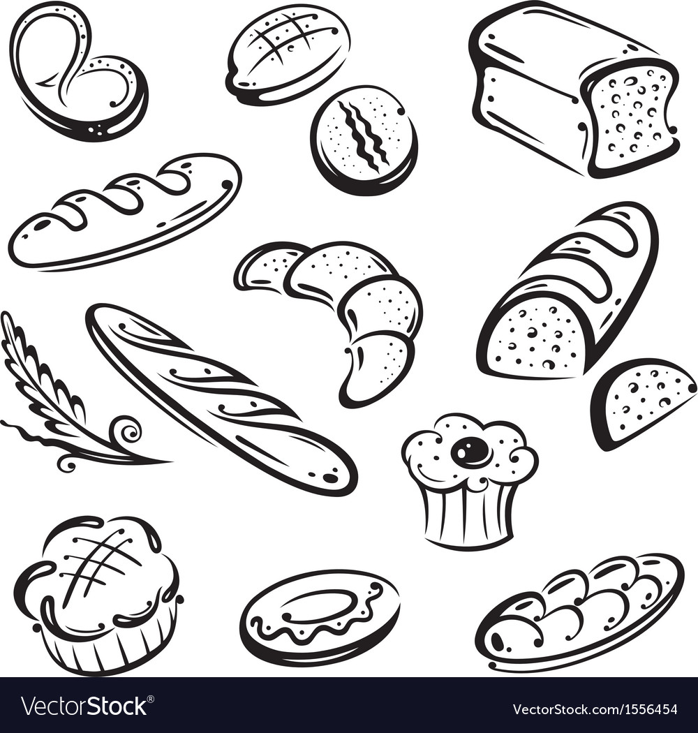 Bakery bread vector | Price: 1 Credit (USD $1)