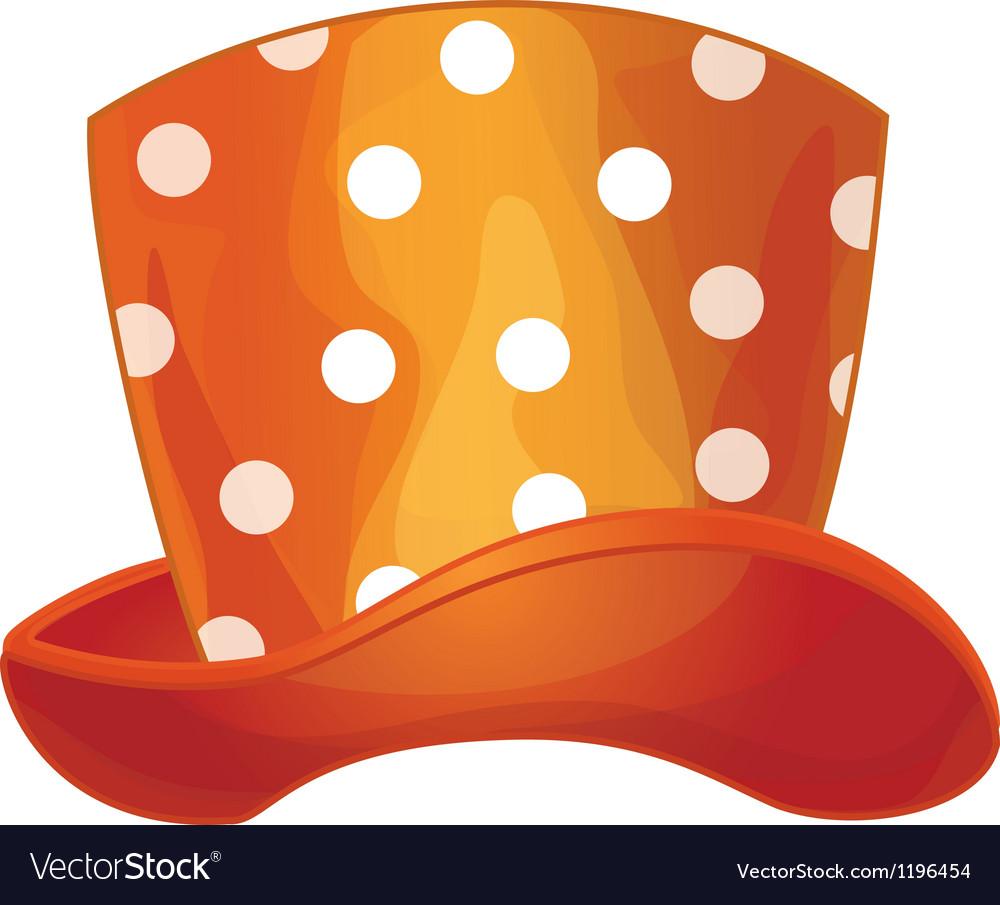 Funny orange hat vector | Price: 1 Credit (USD $1)