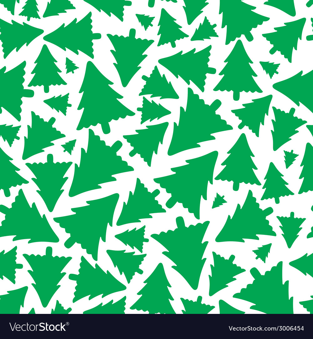 Green christmas tree pattern eps10 vector | Price: 1 Credit (USD $1)