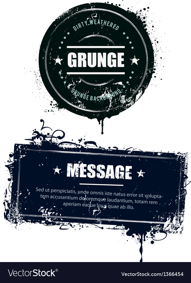 Grunge dirty banners vector | Price: 1 Credit (USD $1)
