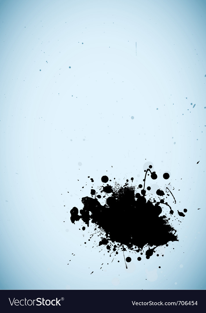 Grunge ink splat vector | Price: 1 Credit (USD $1)