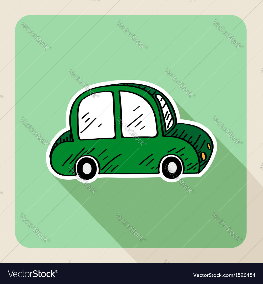 Hand drawn green car rental concept vector | Price: 1 Credit (USD $1)