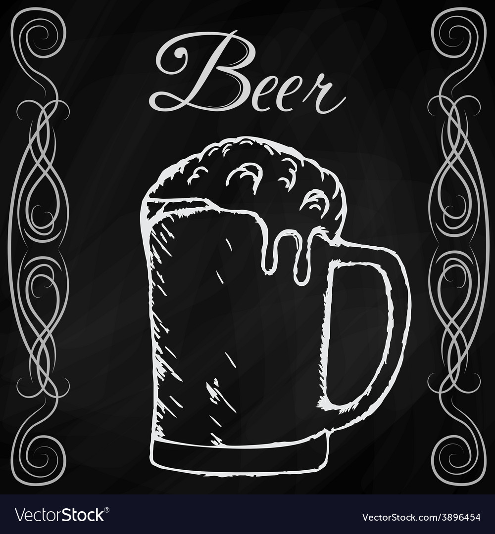 Hand drawn sketch of beer vector | Price: 1 Credit (USD $1)
