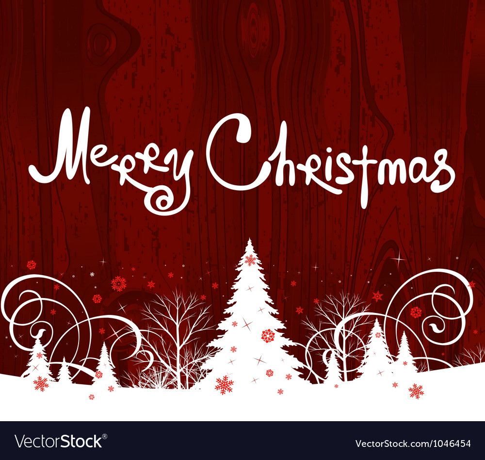 Handwriting merry christmas vector | Price: 1 Credit (USD $1)