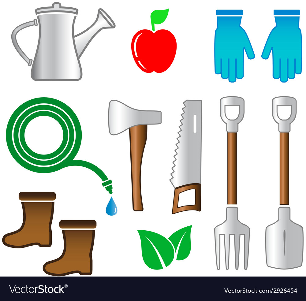 Isolated set tools for gardening vector | Price: 1 Credit (USD $1)