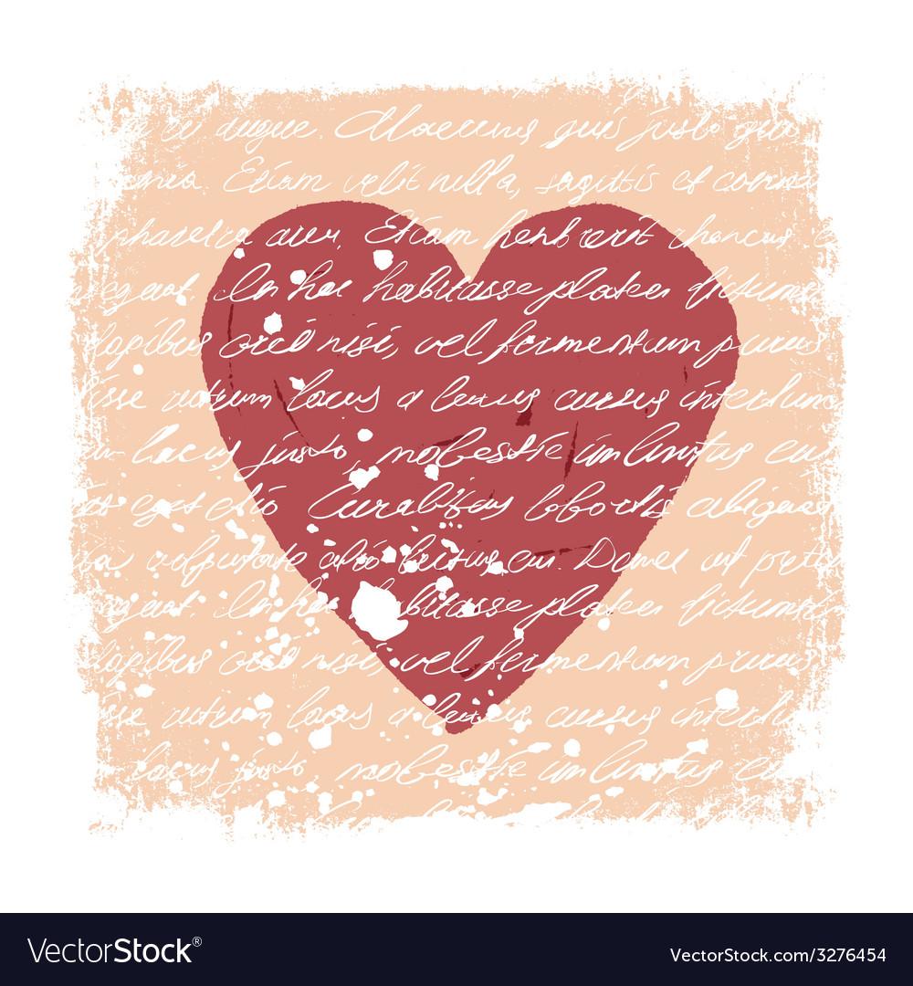 Romantic design template vector | Price: 1 Credit (USD $1)