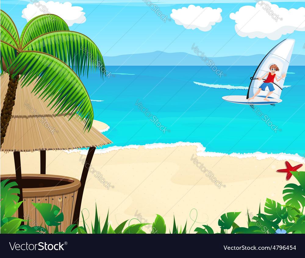 Tropical resort vector | Price: 3 Credit (USD $3)