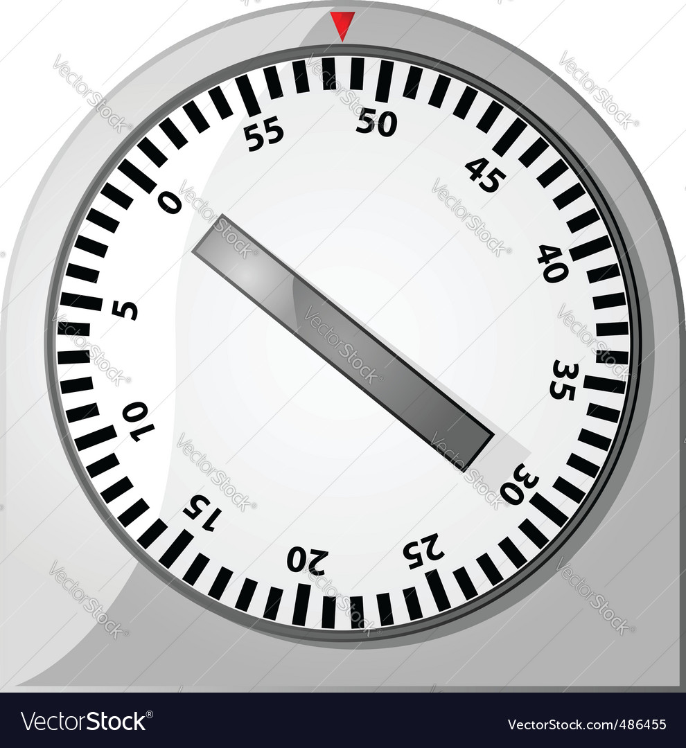 Analog timer vector | Price: 1 Credit (USD $1)