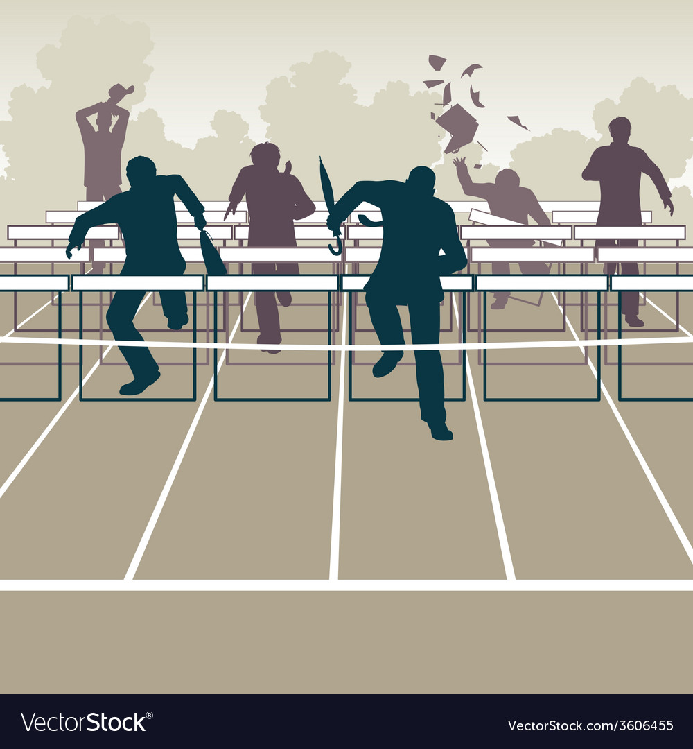 Businessmen hurdles vector | Price: 1 Credit (USD $1)