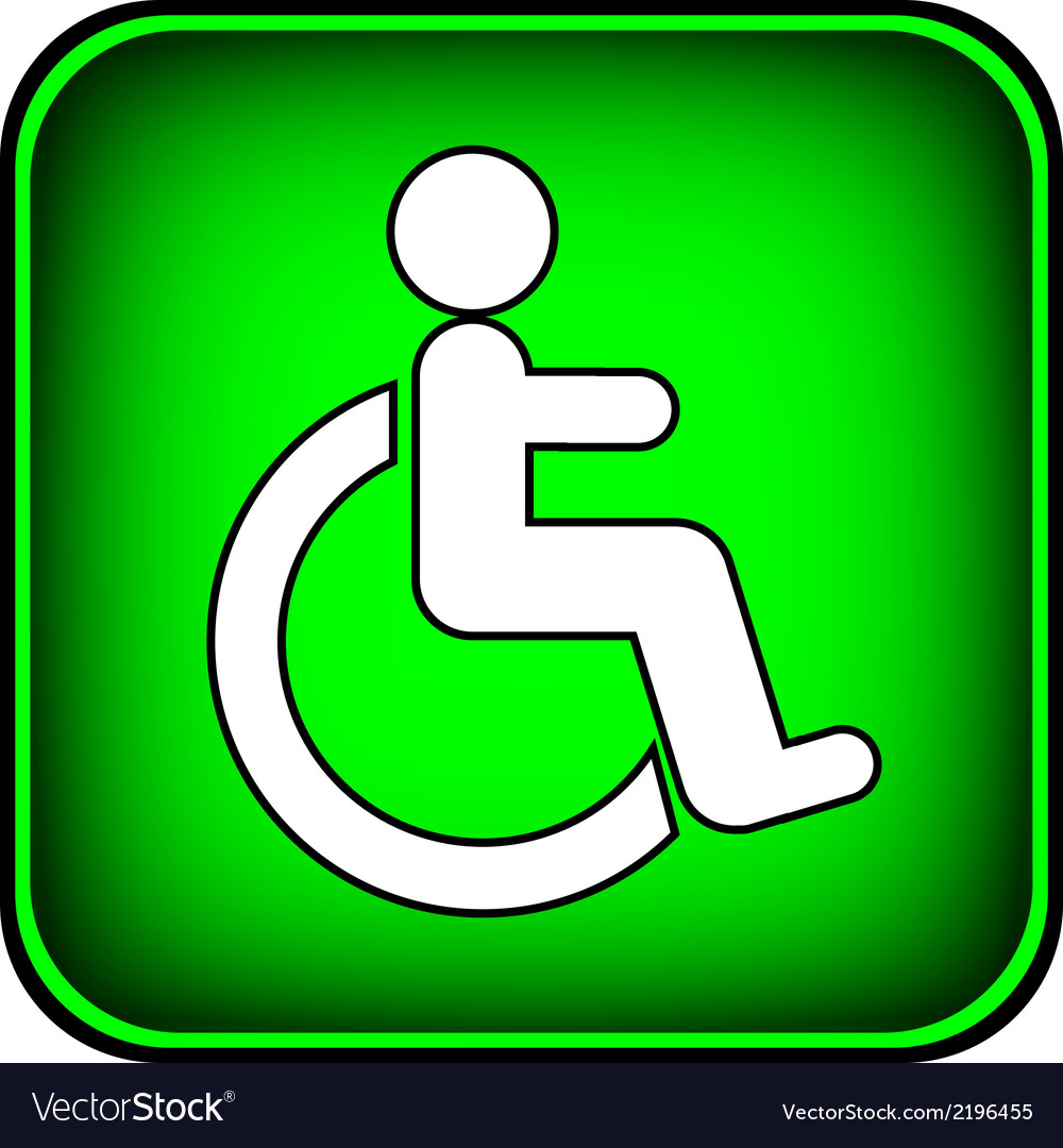 Disabled icon sign vector | Price: 1 Credit (USD $1)