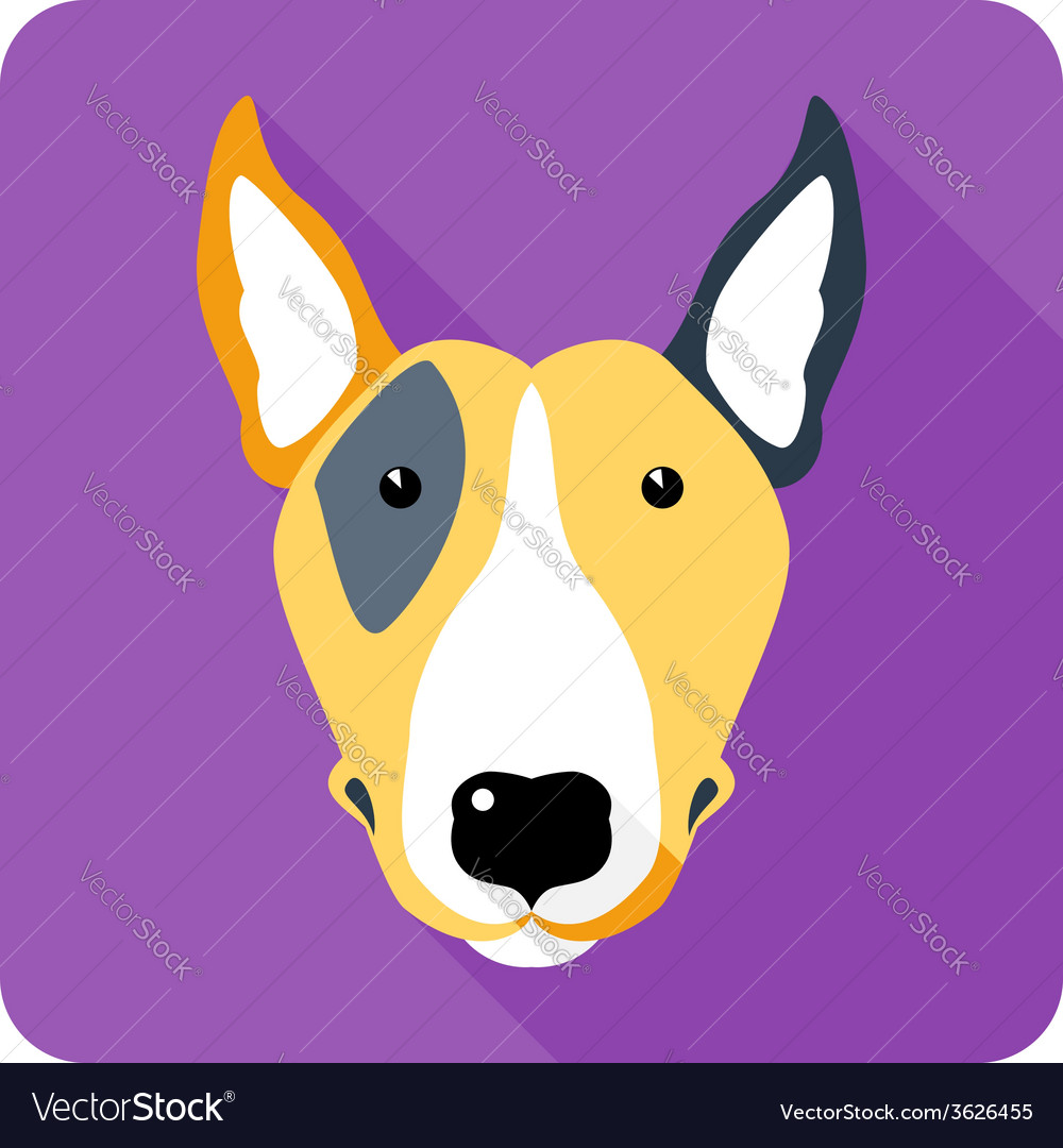 Dog icon flat design vector | Price: 1 Credit (USD $1)