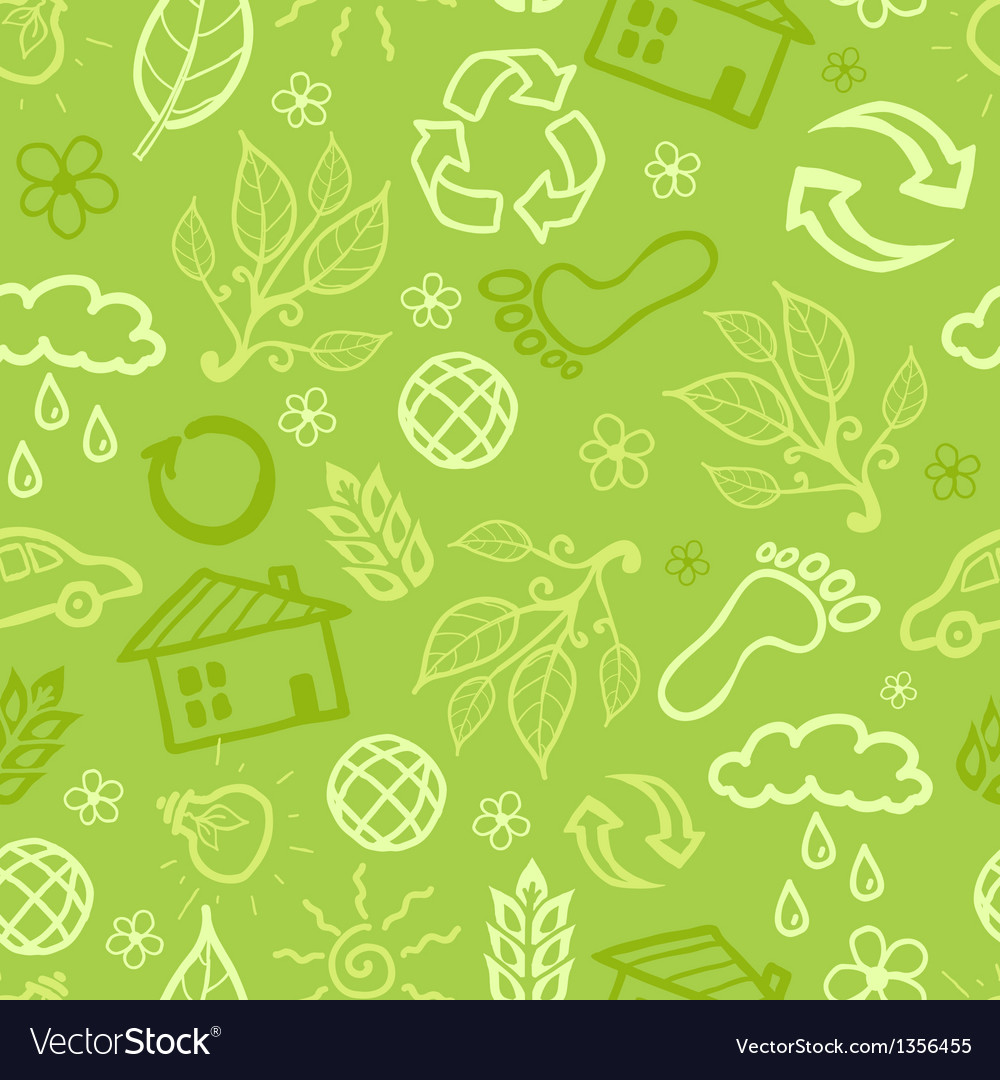 Environmental seamless pattern background vector | Price: 1 Credit (USD $1)
