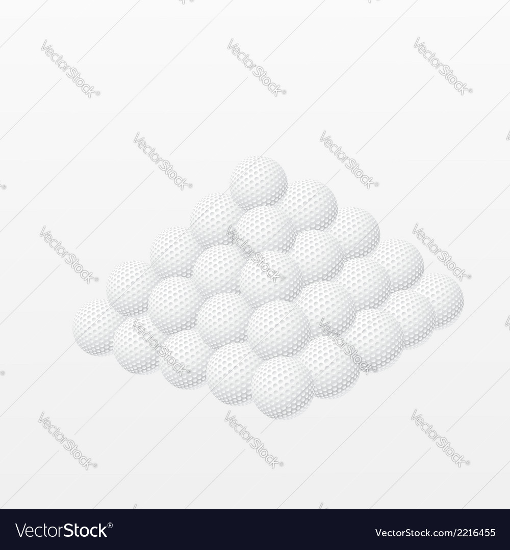 Golf balls made a pyramid vector | Price: 1 Credit (USD $1)