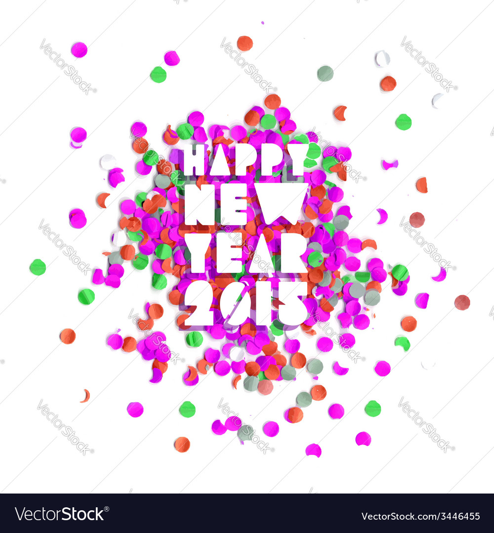 Happy new year 2015 party card vector | Price: 1 Credit (USD $1)