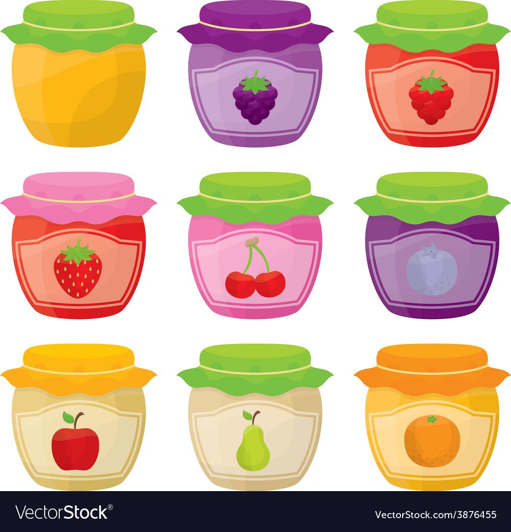 Jam jars vector | Price: 1 Credit (USD $1)