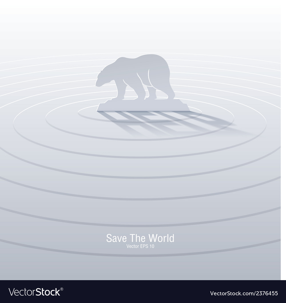 Polar bear help vector | Price: 1 Credit (USD $1)