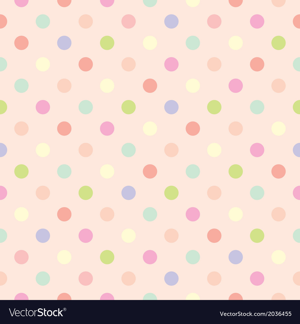Polka dots seamless pink background or pattern vector | Price: 1 Credit (USD $1)
