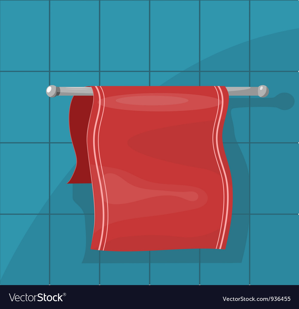 Towels on the holder eps10 vector | Price: 3 Credit (USD $3)