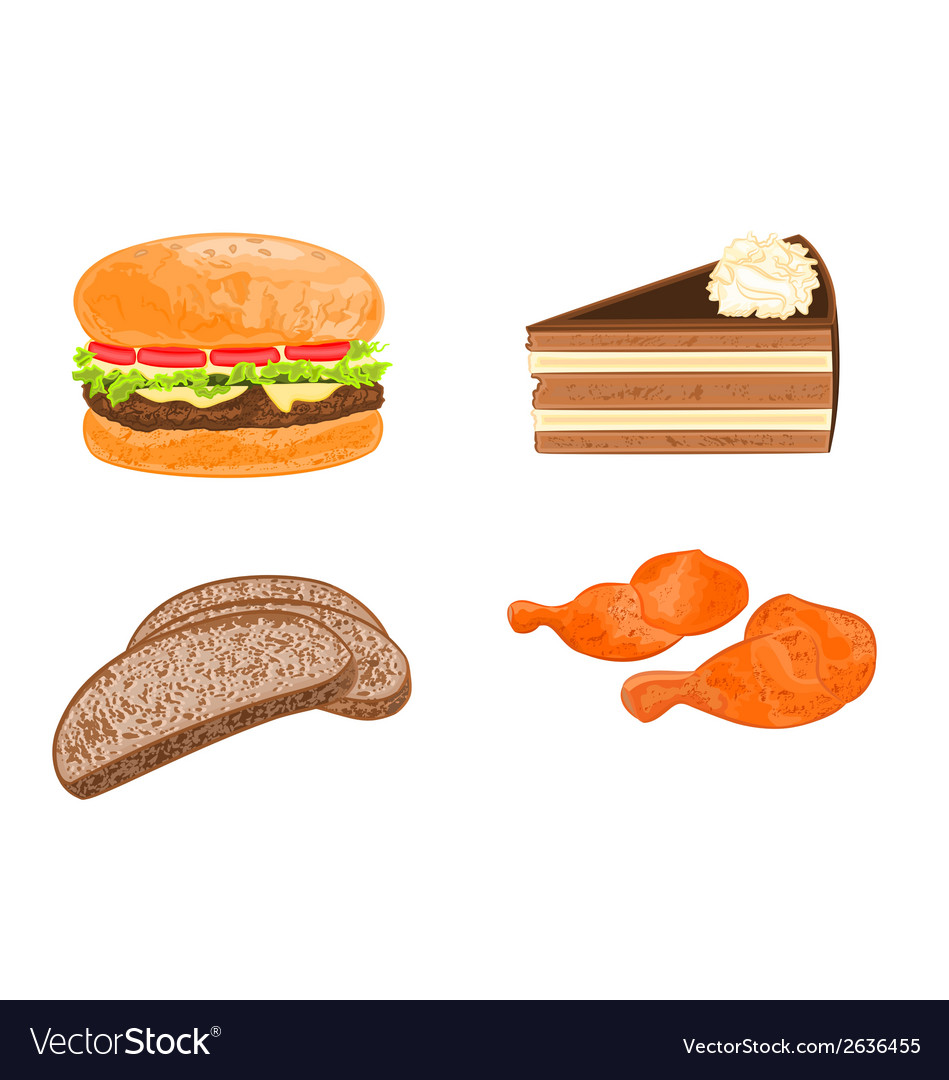Various food dishes vector | Price: 1 Credit (USD $1)
