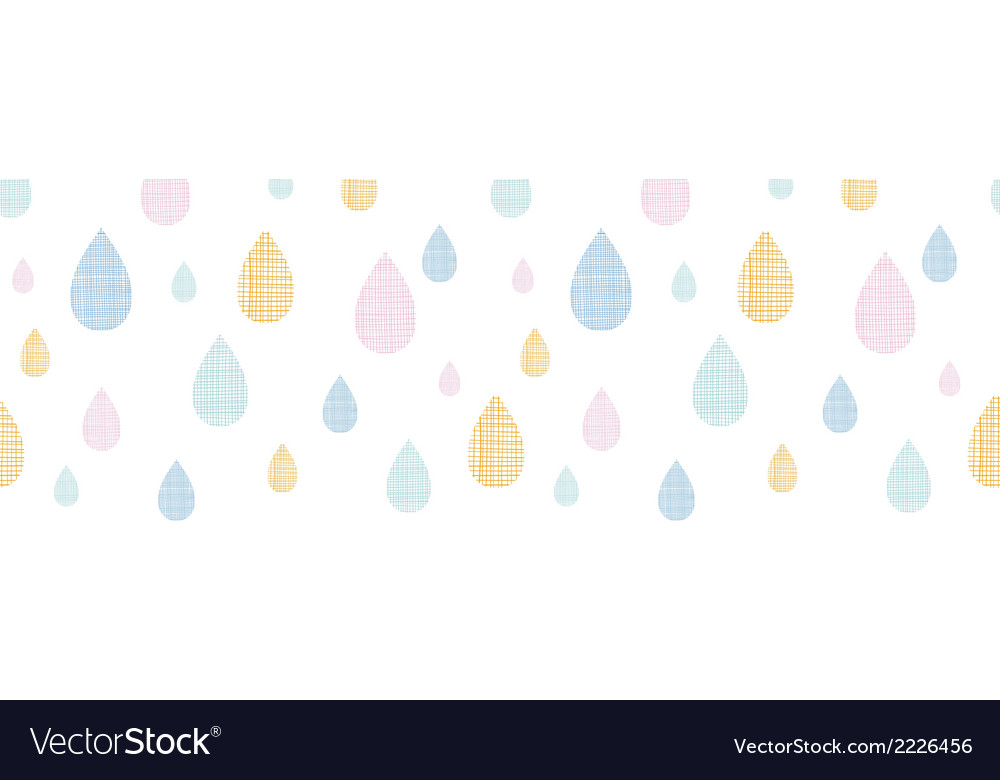 Abstract textile colorful rain drops horizontal vector | Price: 1 Credit (USD $1)