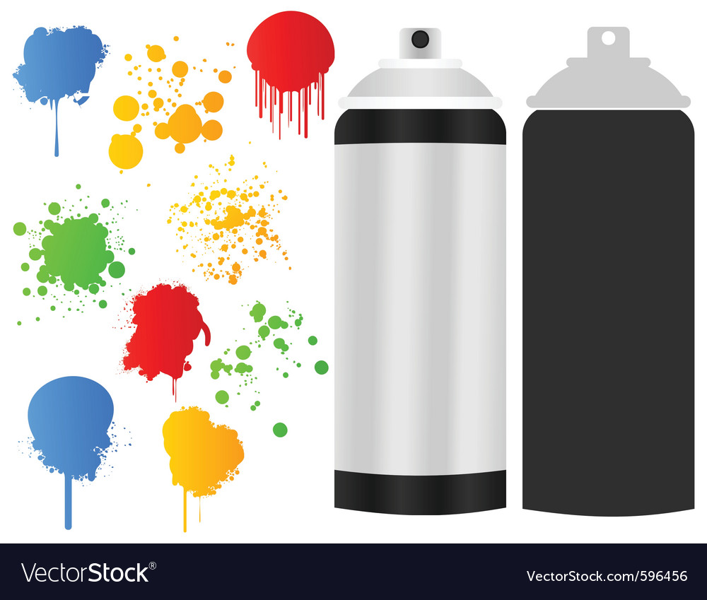 Aerosol paint stain vector | Price: 1 Credit (USD $1)