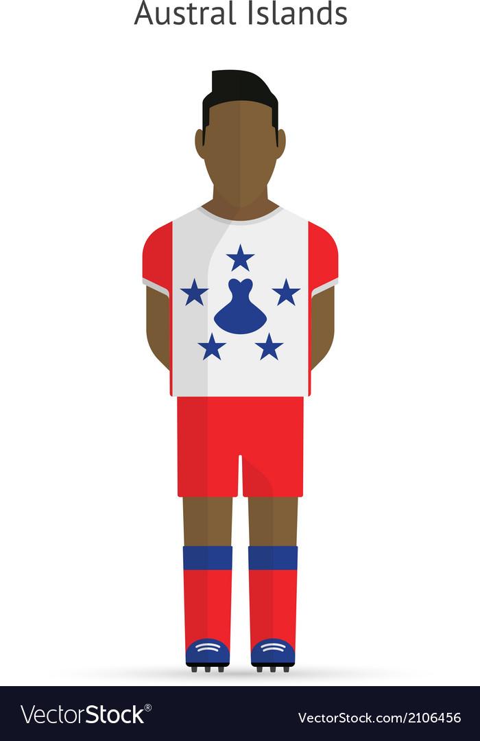 Austral islands football player soccer uniform vector | Price: 1 Credit (USD $1)