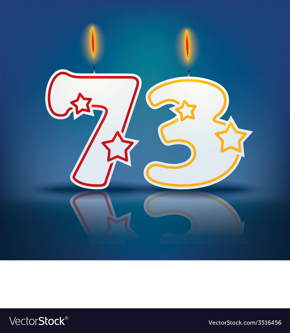 Birthday candle number 73 vector | Price: 1 Credit (USD $1)