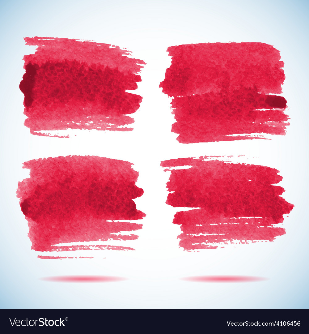 Brushstroke banners ink red watercolor spot vector | Price: 1 Credit (USD $1)