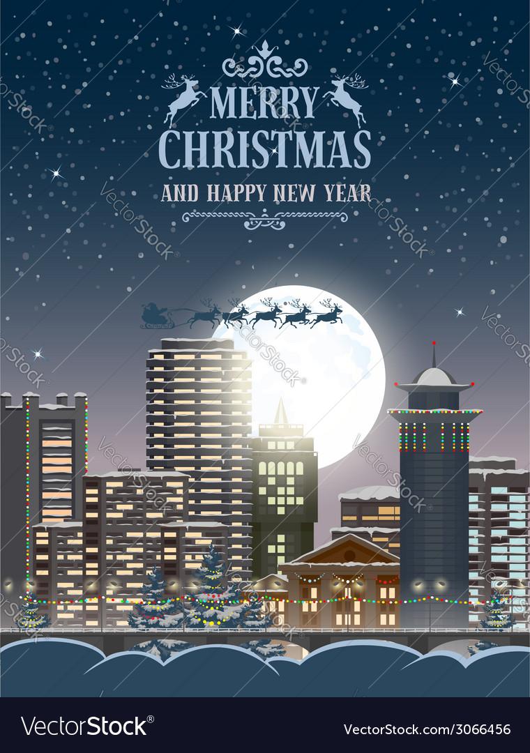 Christmas night vector | Price: 3 Credit (USD $3)
