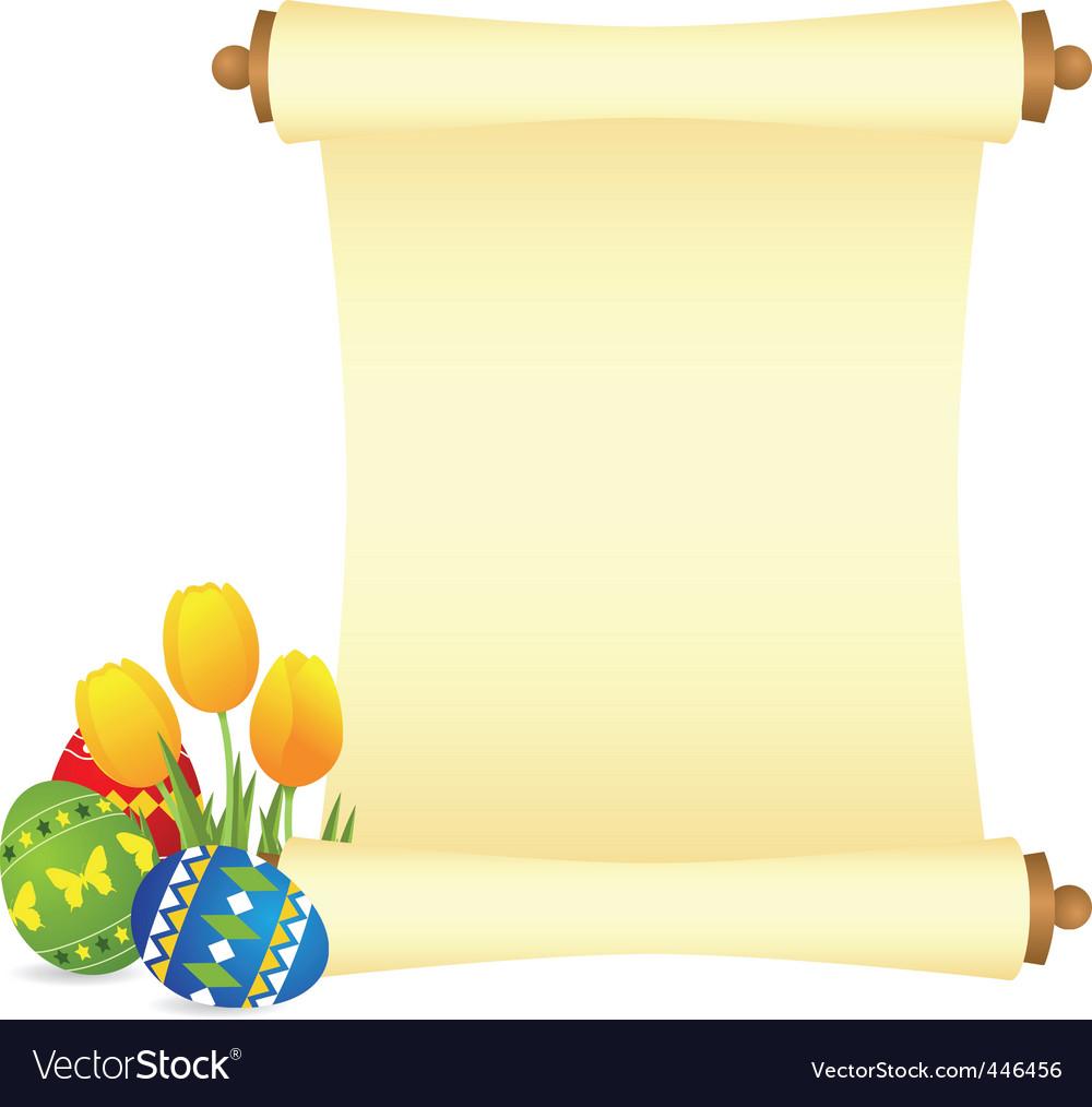 Easter manuscript vector | Price: 1 Credit (USD $1)