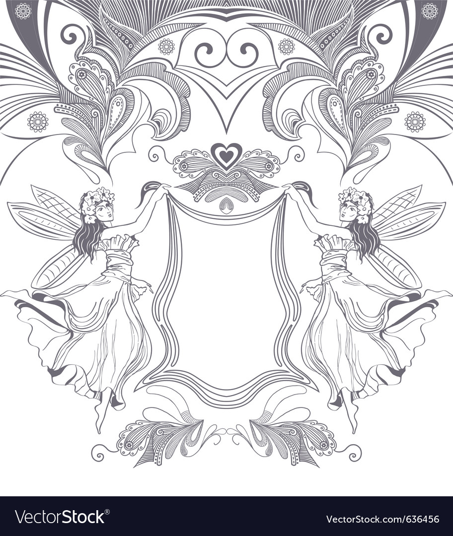 Elegant floral vector | Price: 1 Credit (USD $1)