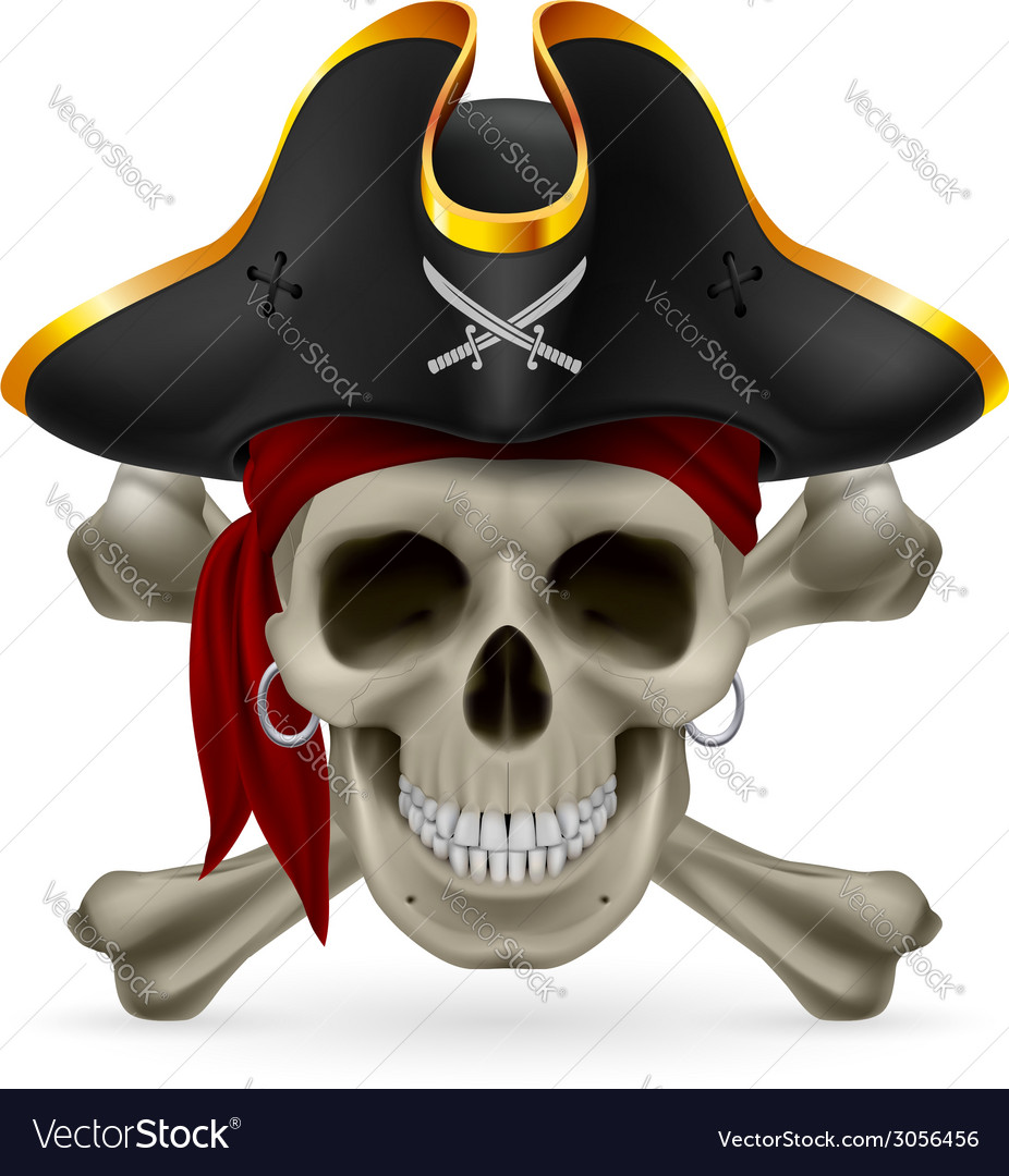 Pirate skull vector | Price: 1 Credit (USD $1)