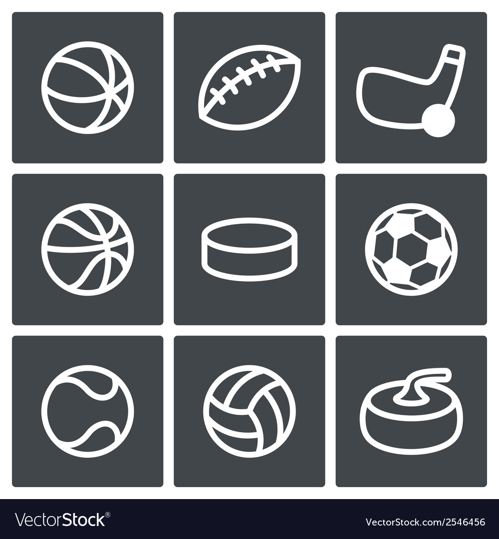 Sports icon collection vector | Price: 1 Credit (USD $1)