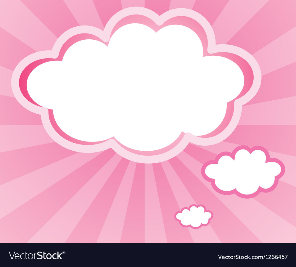 A cloud with a pink background vector | Price: 1 Credit (USD $1)