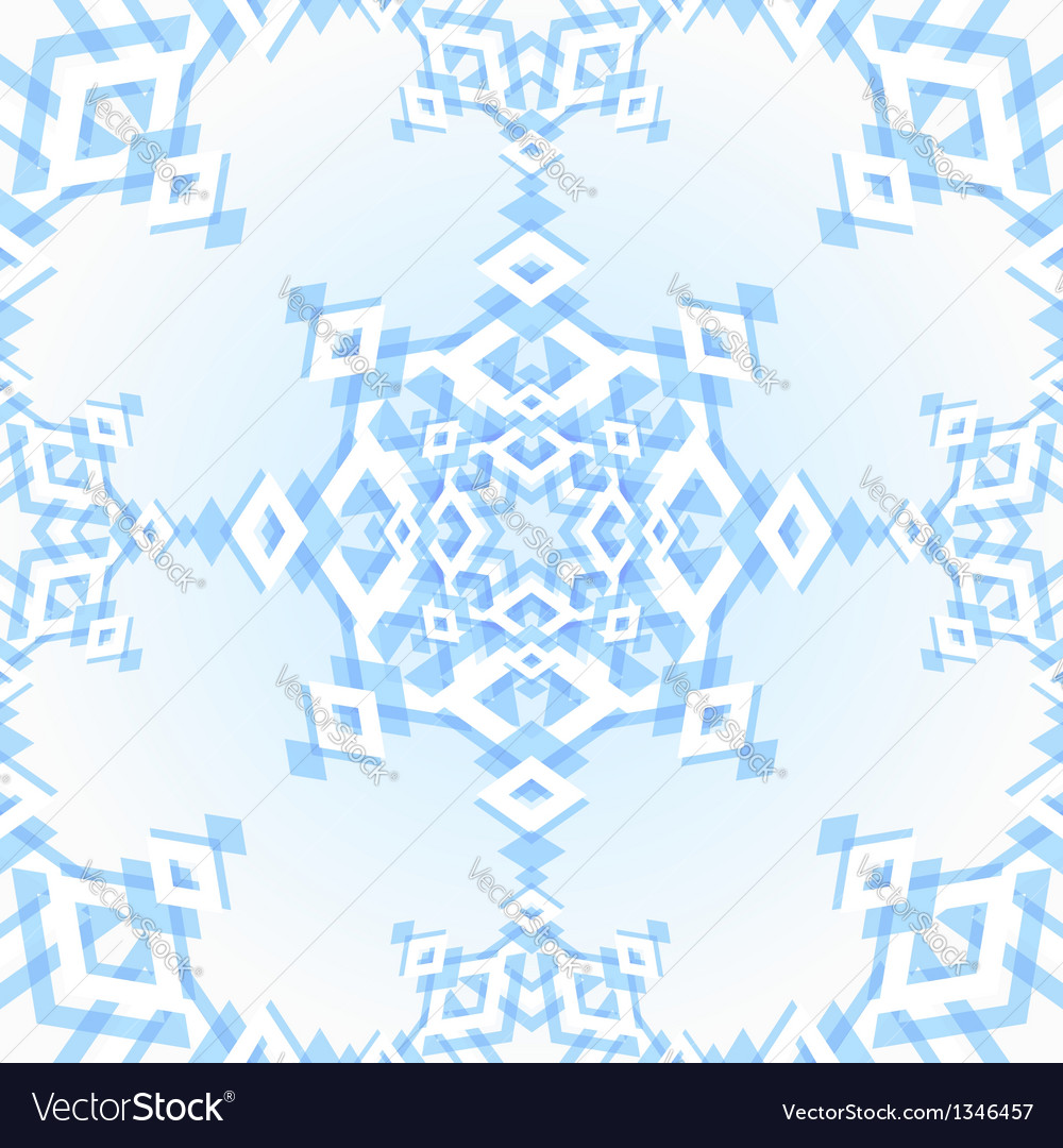 Abstract geometric snowflake vector   Price:  Credit (USD $)
