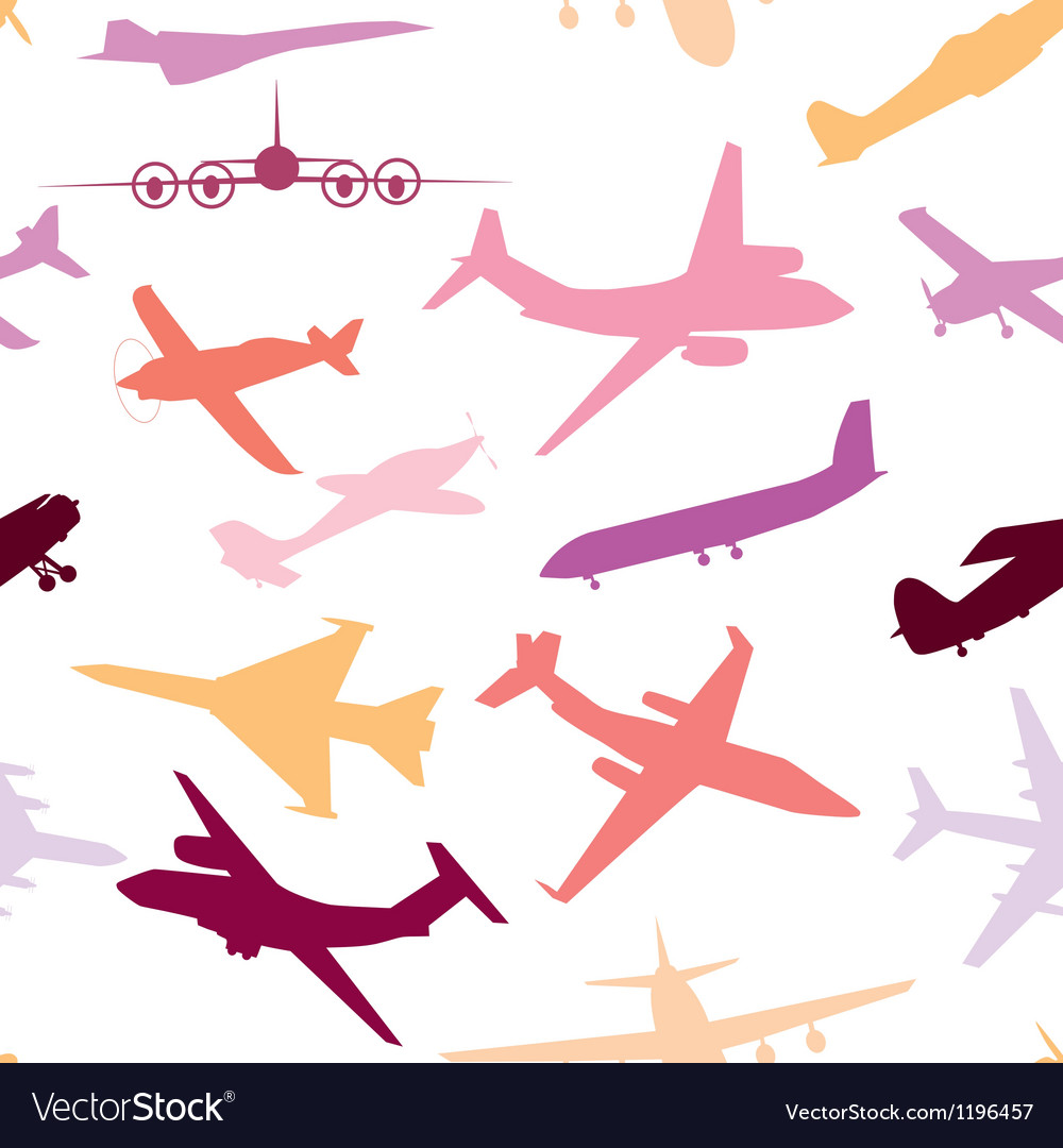 Aircraft airplane plane flying seamless travel vector | Price: 1 Credit (USD $1)