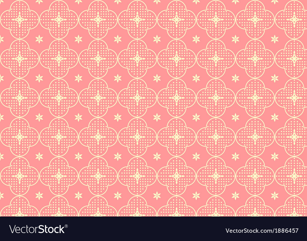 Cherry blossoms or sakura pattern on pastel color vector | Price: 1 Credit (USD $1)