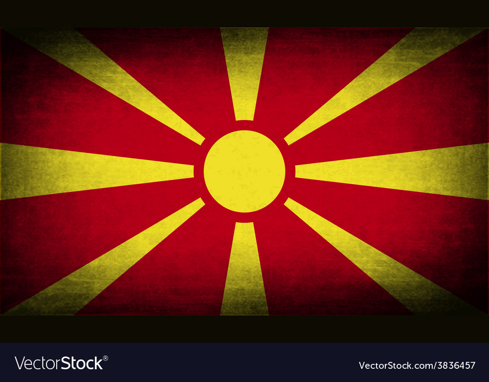 Flag of macedonia with old texture vector | Price: 1 Credit (USD $1)