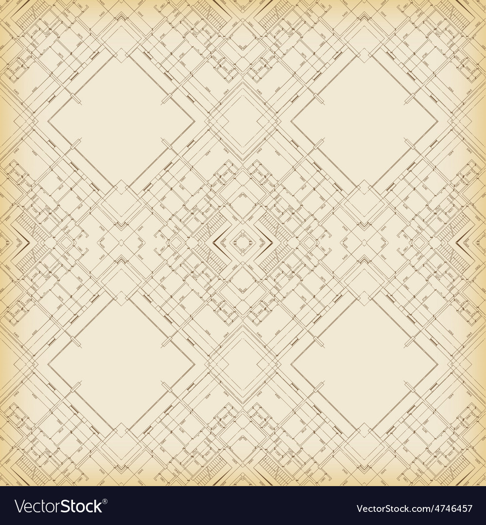 Geometric reflected architecture background vector | Price: 1 Credit (USD $1)