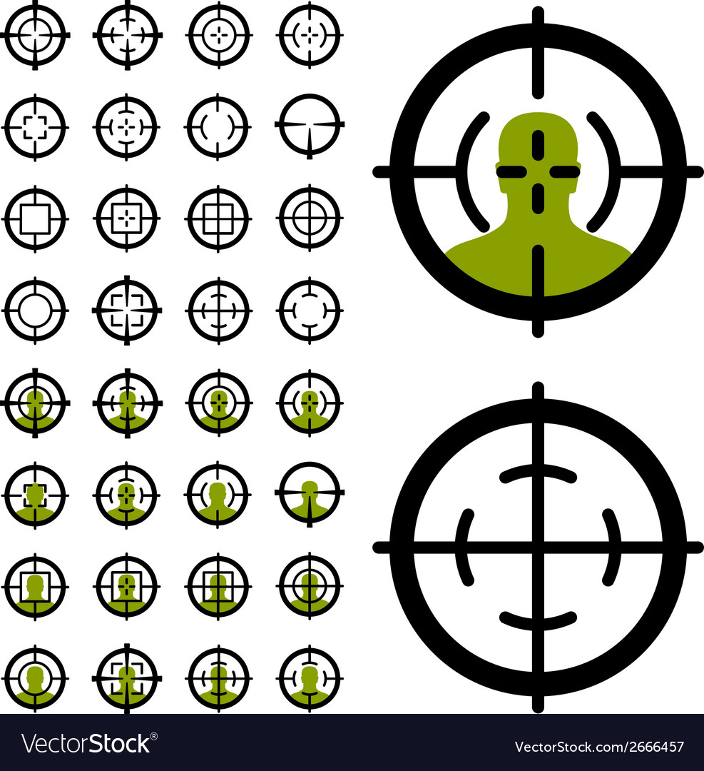 Gun crosshair sight symbols vector | Price: 1 Credit (USD $1)