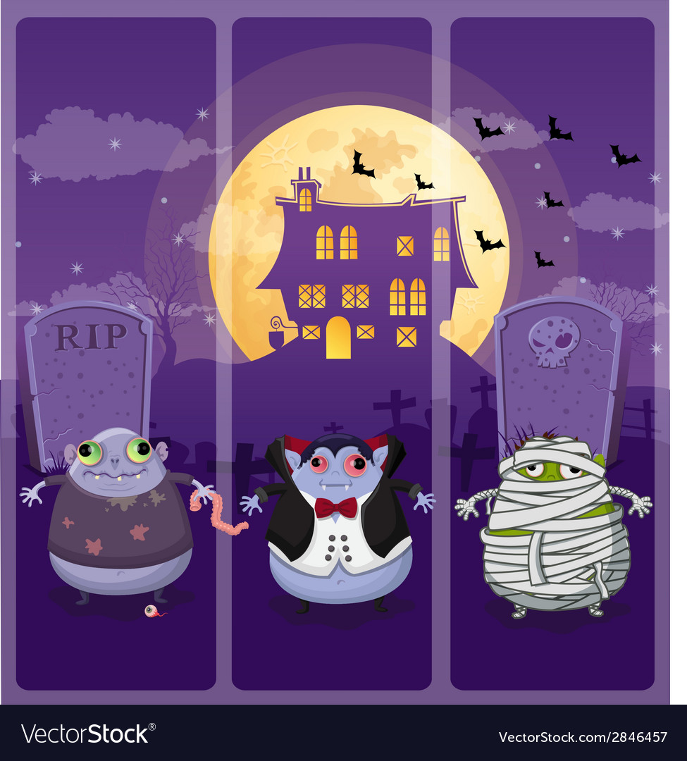 Halloween and background set 6 vector | Price: 1 Credit (USD $1)