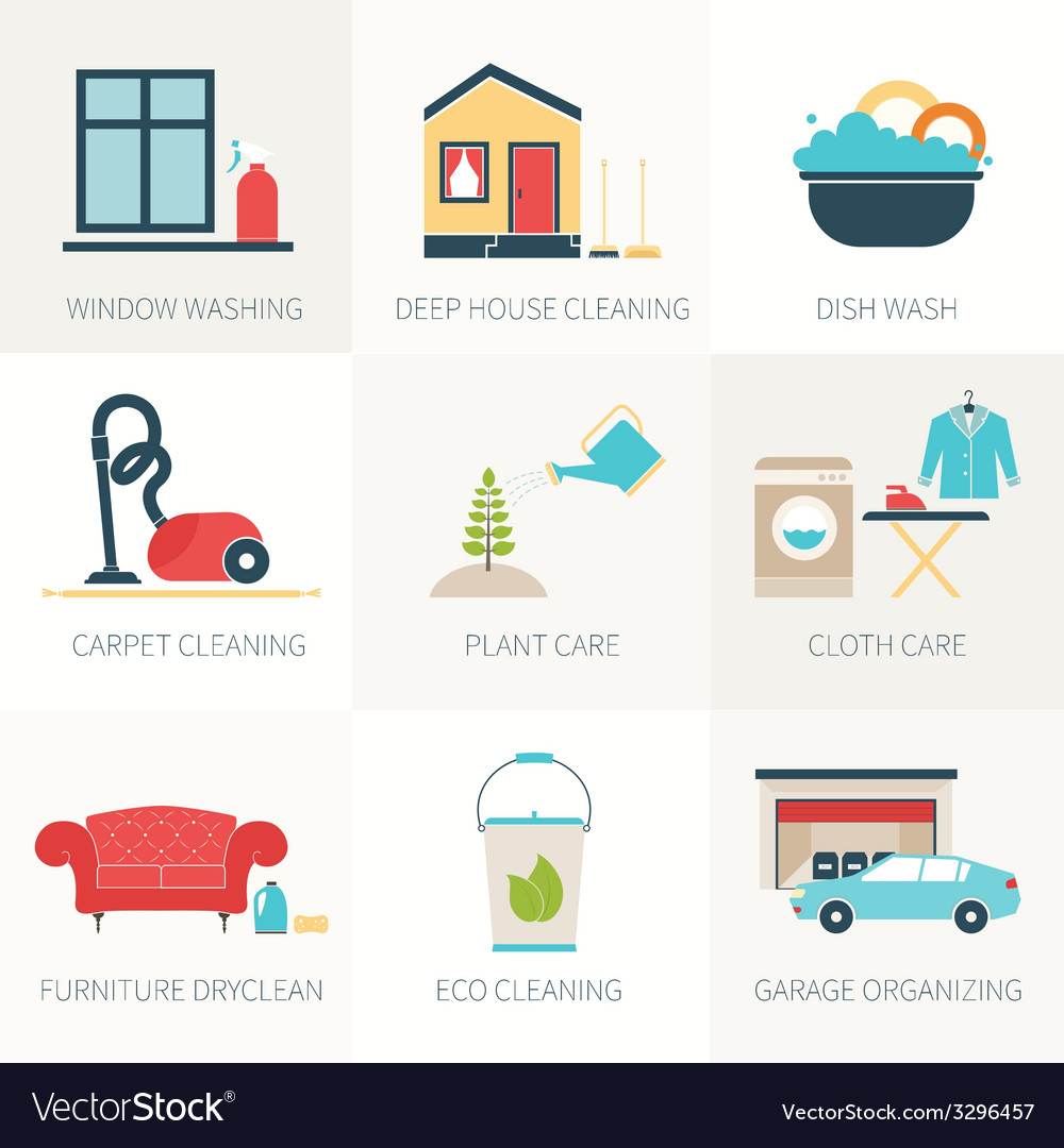 House cleaning vector | Price: 1 Credit (USD $1)