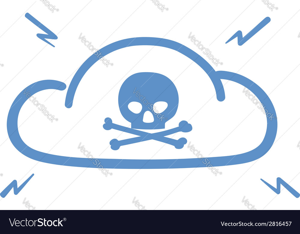 Internet cloud hacked vector | Price: 1 Credit (USD $1)