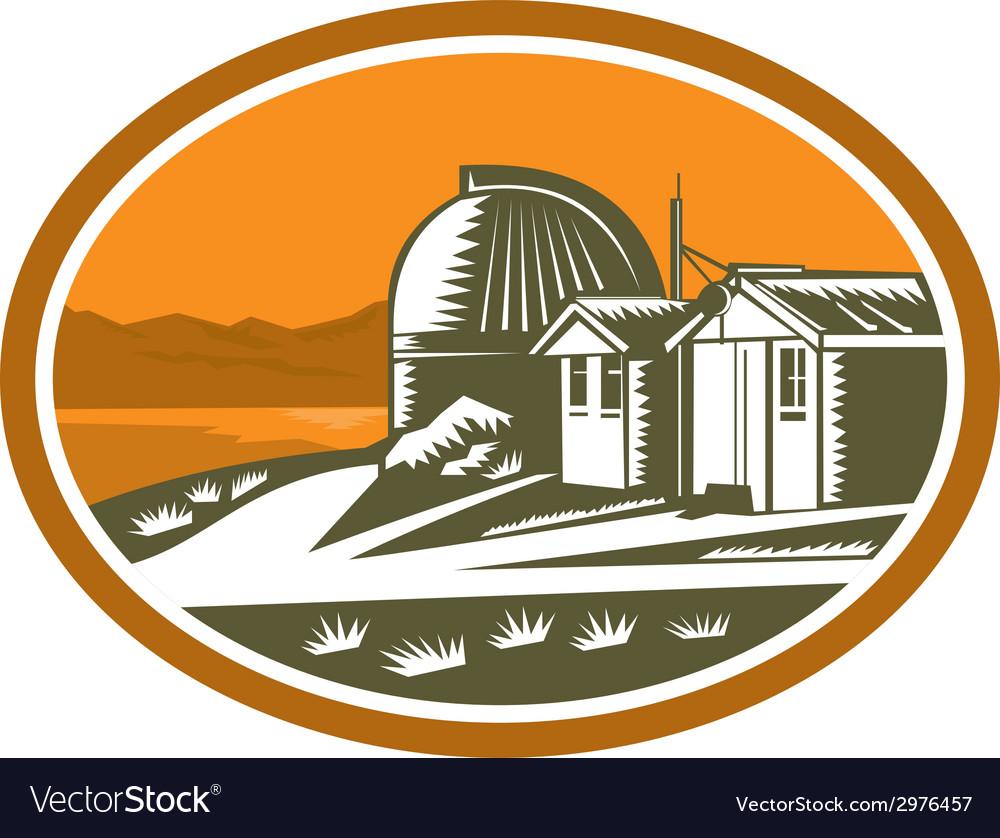 Mt john university observatory retro vector | Price: 1 Credit (USD $1)