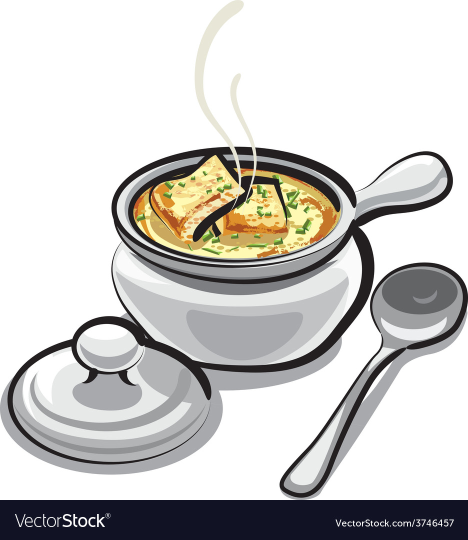 Onion soup vector | Price: 3 Credit (USD $3)