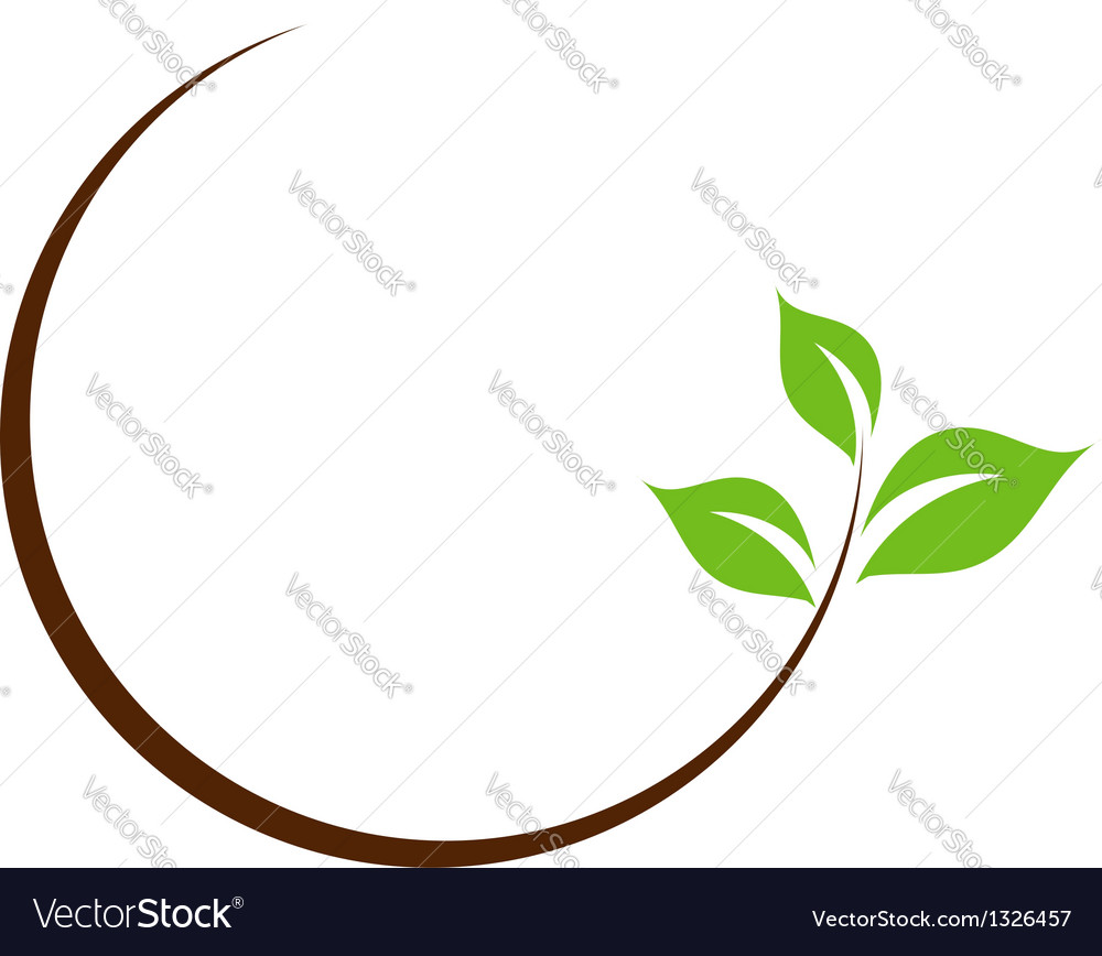 Organic leaf logo vector | Price: 1 Credit (USD $1)